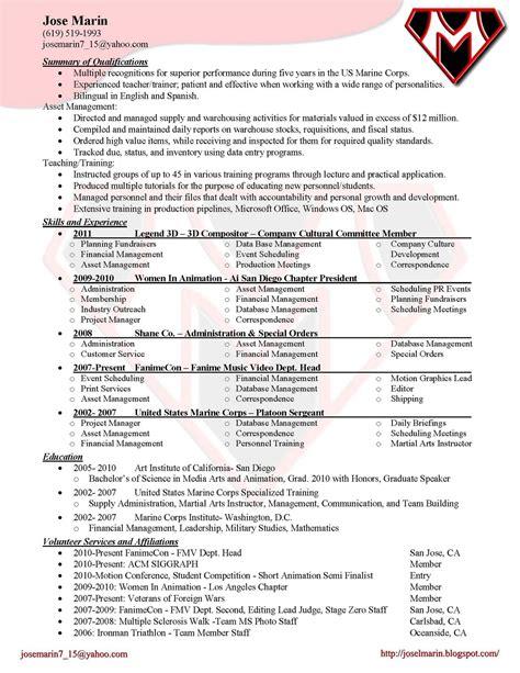 Jose Marin: Production Resume