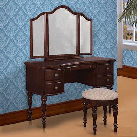 3 Vanity Set by 3 Vanity Mirror And Bench Set Marquis Cherry