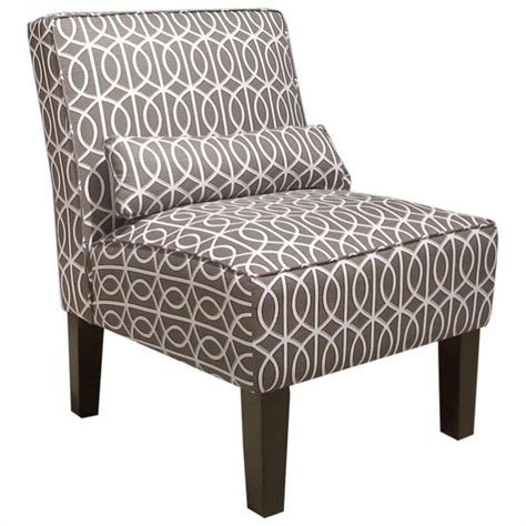 beige slipper chair skyline furniture slipper chair in beige geometric pattern
