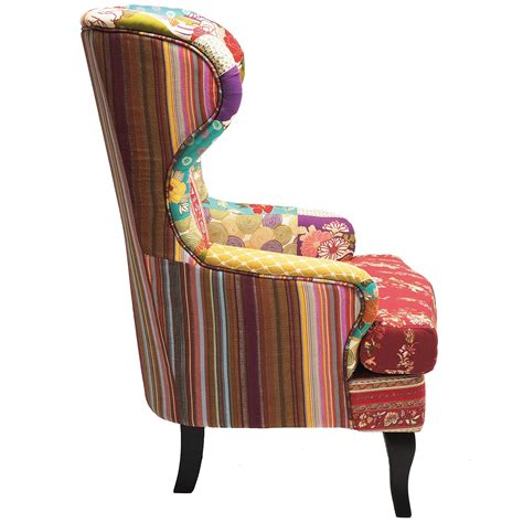 Patchwork Armchairs - romany patchwork wingback armchair bedroom company