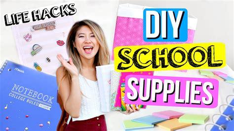 diy hacks youtube diy life hacks for back to school supplies organization