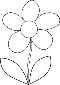 Flower Outline by Simple Flower Coloring Page For Free Printable Picture