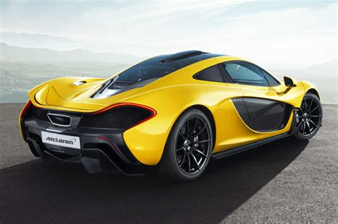 mclaren p1 side view mclaren p1 rear side view photo 1