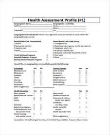 health care needs assessment template health assessment forms in pdf