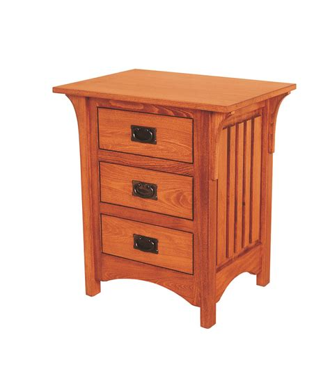 night stand deluxe mission 3 drawer night stand ohio hardword