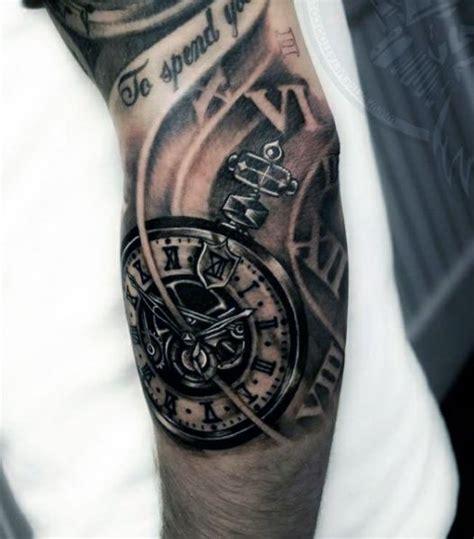 tattoo 3d zegar tatuaże męskie 3d zegar na tatuaże zszywka pl