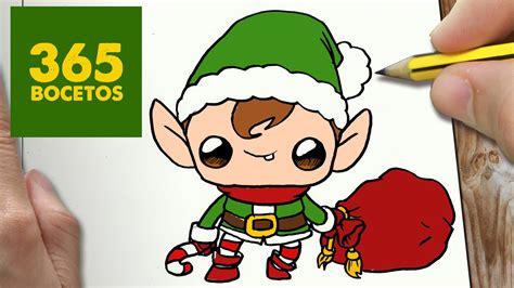 imágenes de navidad kawaii como dibujar un elfo para navidad paso a paso dibujos
