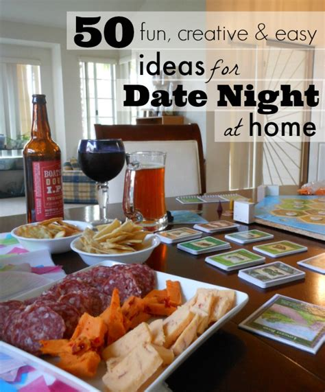 50 creative date ideas for at staying at home