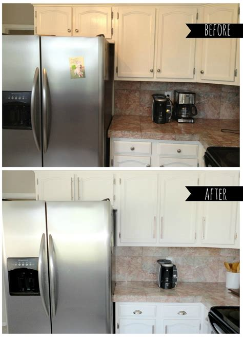 before and after kitchen cabinets painted livelovediy how to paint kitchen cabinets in 10 easy steps