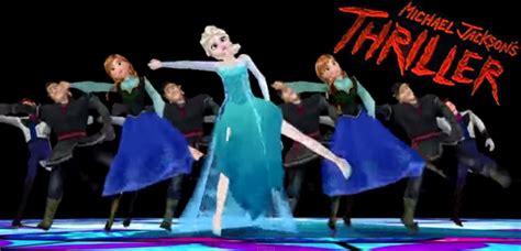 film frozen thriller characters of disney s frozen perform michael jackson s