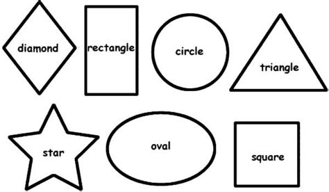 shapes coloring pages pinterest shapes coloring pages