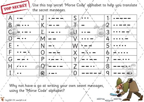 printable games for ks2 teacher s pet morse code solving premium printable