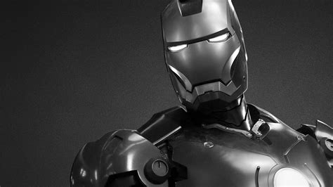 black white iron man desktop pc mac