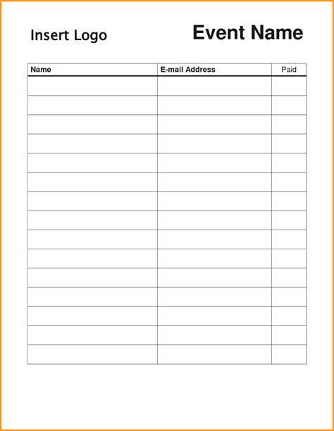 sign templates free downloads blank sign up sheet exle mughals