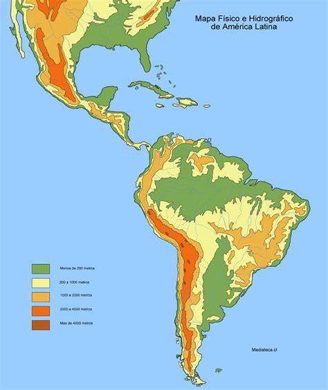 mapa topografico america sur mapa de am 233 rica mapa f 237 sico geogr 225 fico pol 237 tico