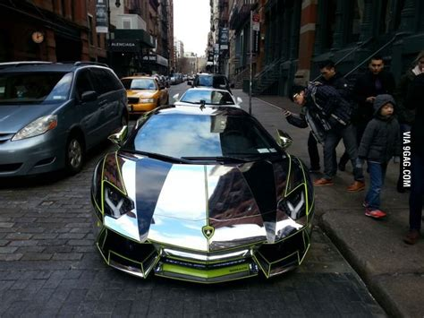 Chrome Lamborghini Nyc Chrome Aventador In Nyc Nyc Lamborghini Aventador And D
