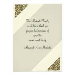 sympathy thank you wording cards sympathy thank you wording card templates postage