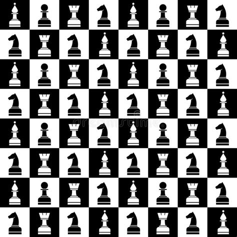 design pattern for chess game seamless vector chaotic pattern with black and white chess