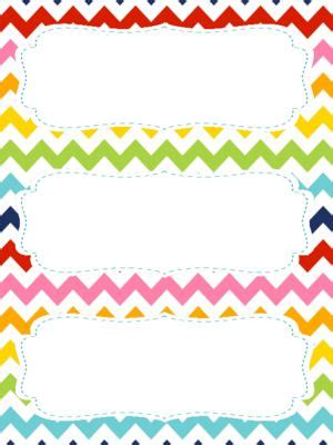 Template For Student Desk Name Cards Free Black And White by Free Rainbow Chevron Theme Name Tags For Student Desks