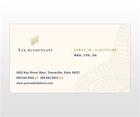 tax professional business cards template business cards accountants sle choice image card