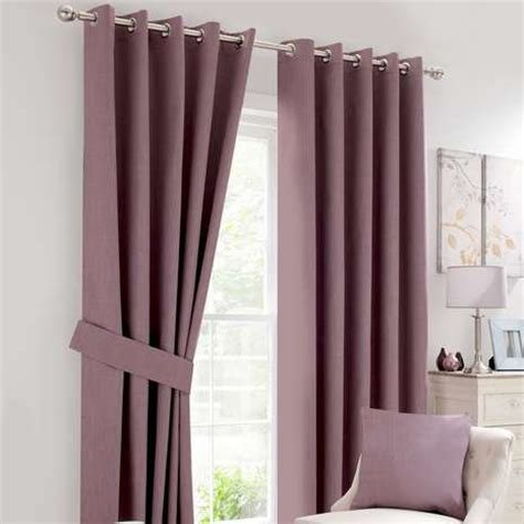 Bedroom Curtains Mauve Solar Mauve Blackout Eyelet Curtains Dunelm