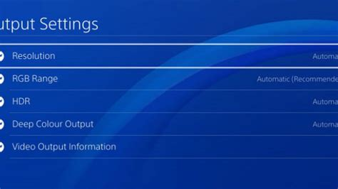 reset playstation 3 video resolution pictures ps4 settings menu gallery photos designates