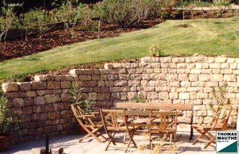 steinmauern garten steinmauern im garten