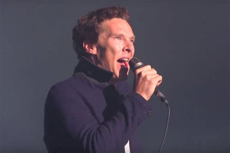 cing comfortably try not to melt while watching benedict cumberbatch sing