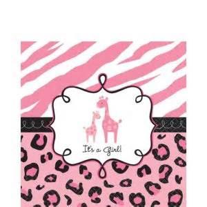 pink safari baby shower lunch napkins 36ct city