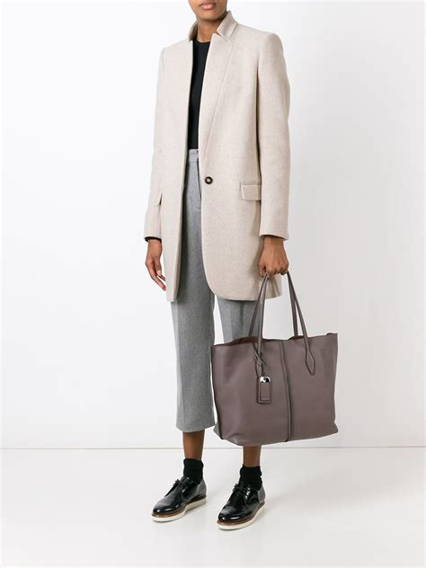 Tods Shopping Tote New Hitam tod s shopping tote in gray lyst