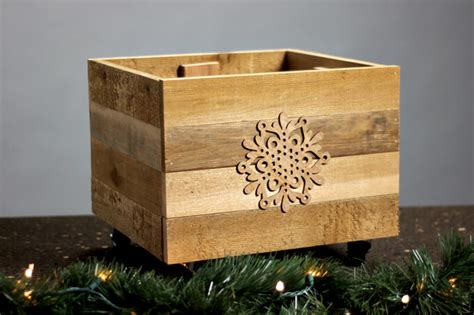 rustic christmas tree stand box gray house studio
