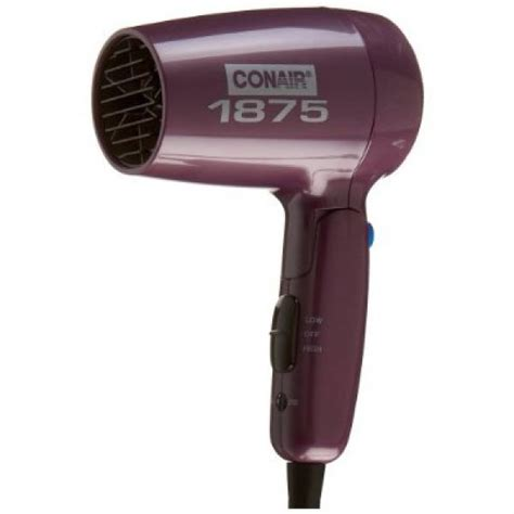 Conair Hair Dryer Folding Handle conair 124lr folding handle 1875 watt dryer purple