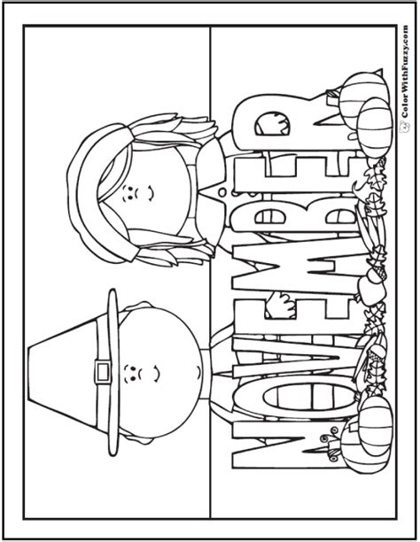coloring page for november november coloring fun coloring pages