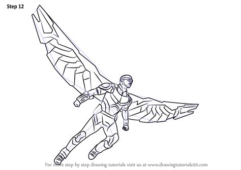 Learn How To Draw Falcon From Captain America Civil War Captain America Civil War Coloring Pages
