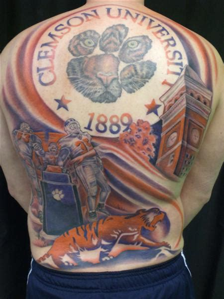 clemson tattoo clemson cockytalk