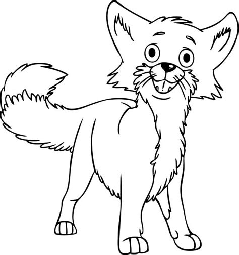 desert fox coloring page desert fox is confused coloring pages netart