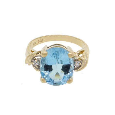 Blue Topaz For 14k yellow gold and blue topaz ring
