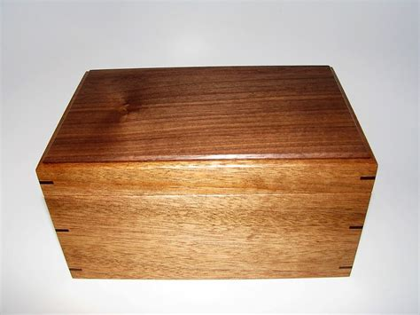 Handcrafted Wooden Boxes - keepsake box mahogany and walnut keepsake box 9