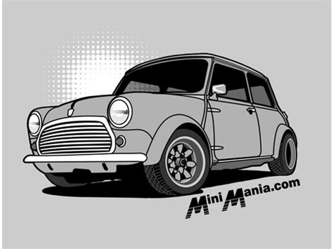 Mini Cooper Tshirt mini cooper t shirt classic grey on grey sh