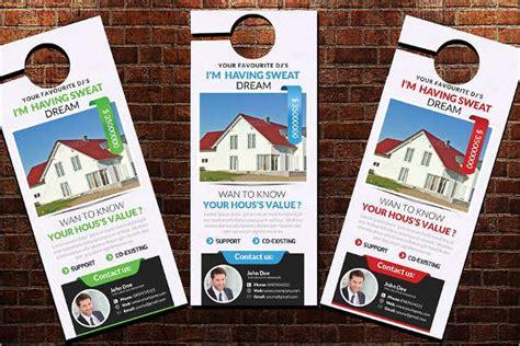 19 Door Hanger Templates Free Word Pdf Designs Free Real Estate Door Hanger Template