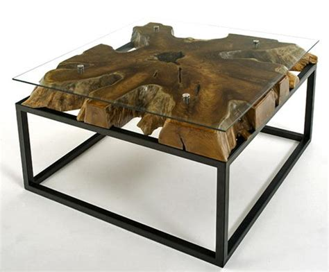 contemporary rustic coffee table solid wood modern