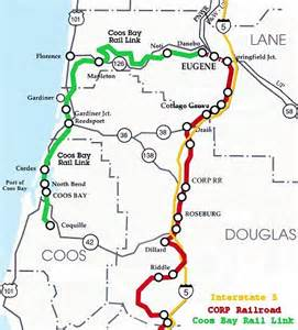 where is coos bay oregon on the map global strategies the coos bay rail link