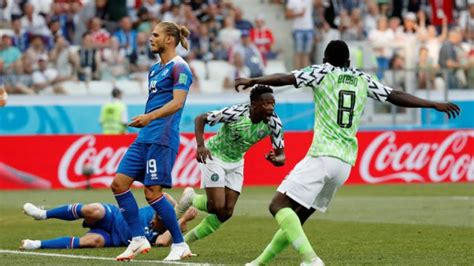 nigeria vs iceland eagles trash iceland 2 goals to