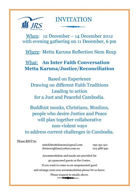 Invitation Letter Workshop Jrs Cambodia Inter Faith Workshop