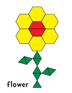 flower pattern concrete blocks pattern blocks flower made of hexagons and other shapes