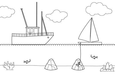 dibujo barco para colorear e imprimir barco pesquero dibujo para colorear e imprimir