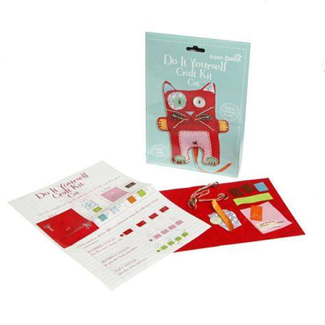 diy kits sass belle diy cat craft kit by sass and belle