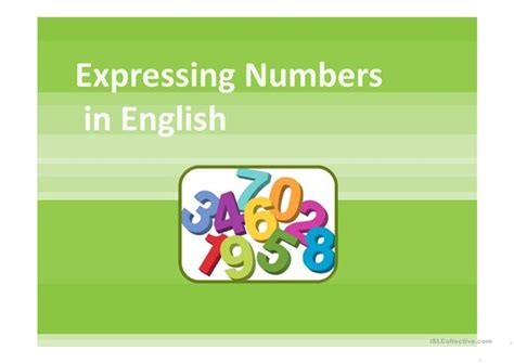 Expressing Numbers Ppt Worksheet Free Esl Projectable How To Present Numbers In Powerpoint