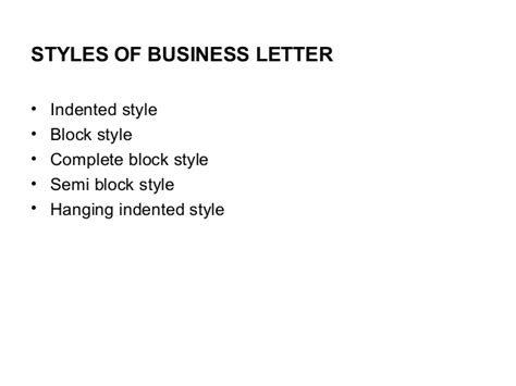 American Style Of Business Letter styles of business letters