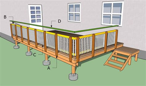 how to construct a deck how to build deck railing studio design gallery